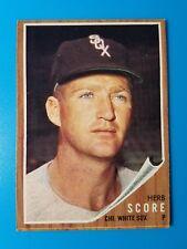 1962 TOPPS BASEBALL #116 HERB SCORE CHICAGO WHITE SOX NICE NM+
