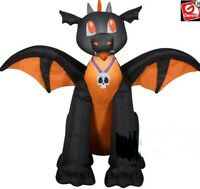 HALLOWEEN 3.5 FT BABY DRAGON BLACK & ORANGE  Airblown Inflatable YARD DECORATION