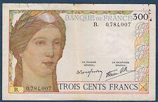 FRANCE - 300 FRANCS Fayette n° 29.1 - non daté - 1938 en TB  B.0.784.007