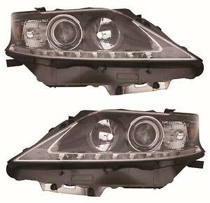 FITS LEXUS RX350 RX450h 2013-2015 LEFT RIGHT HID HEADLIGHTS HEAD LAMPS PAIR NEW