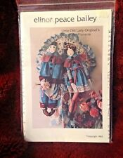 Victorian Doll Pattern Elinor Peace Bailey Pierre & Pierete 1982 Vintage New
