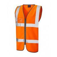 Leo Workwear Pilton Sky//Royal Blue Hi Vis Reflective Waistcoat