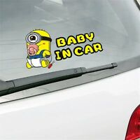 BABY IN CAR Despicable Me Minion Car Sticker Waterproof Reflective FREE SHIPPING