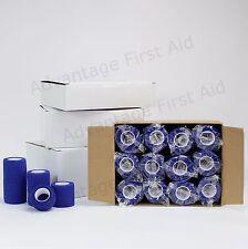 Blue Cohesive Bandage 2.5cm X 4.5m 24 Rolls