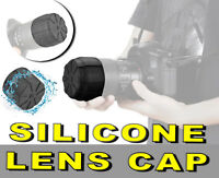 LENS CAP COVER FRONTAL REAR SILICONE Nikon AF-P DX Nikkor 70-300mm F4.5-6.3G