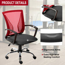 Ergonomic Swivel Mid-back Computer Office Desk Mesh Chair Heavy Duty Metal Base