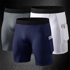 Hombres Pantalones Cortos De Compresión Suave Seco Fresco Deporte Short Pantalón Ajustado Para Entrenamiento De Entrenamiento