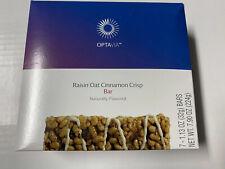 Optavia Raisin Oat Cinnamon Crisp Bar 7 Pack * Brand New Free Shipping!