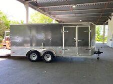 7x14 enclosed trailer cargo double doors