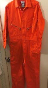 WALLS Hi Visibility Master Made Orange Coveralls Men's Size 44-TALL (36x30)  VGC