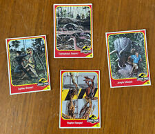 1990's Kenner JURASSIC PARK Action Figure Cards x 4. GC