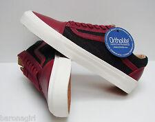 Vans Men's Old Skool CA Leather & Wool Biking Red Black VN-0KW7GIV Size: 6.5