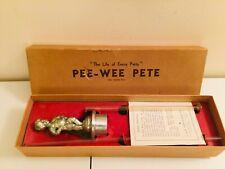 VINTAGE PEE WEE PETE G&B NOVELTIES METAL DRINK POURER GAG GIFT COMEDY ITEM BOX