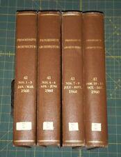1960 Jan - Dec  Progressive Architecture Magazine 12 Issues Bound  Volume 41