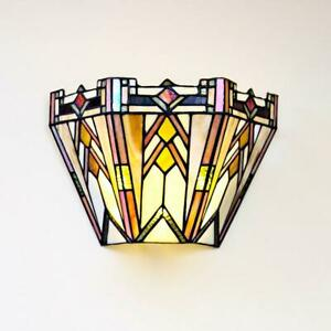 River of Goods 3-Watt Multi-Colored Mission Stained Glass Integrated LED Sconce