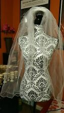 "Ivory Pearl Elbow Length Bridal Veil 1 Layer 39"" Long By David Bridal"