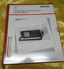 PHILIPS DIGITAL STORAGE OSCILLOSCOPE PM3365, PM3367 MANUAL