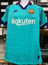 Nike Fc Barcelona Third Kid 2019/20 Retro Green Red Navy Stadium Size Small Only