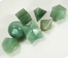Green AVENTURINE PLATONIC SOLIDS SACRED GEOMETRY SET Healing crystal #In77-5
