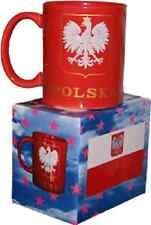 12oz Poland Polish Polska Eagle Red Coffee Ceramic Mug