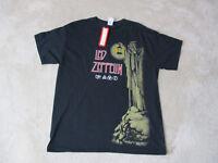 NEW Led Zeppelin Concert Shirt Adult Large Black Red Band Tour Rock Music Mens