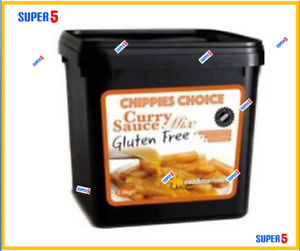 GLUTEN FREE CURRY SAUCE MIX 2.5kg Tub Chippies Choice  - Middleton Foods