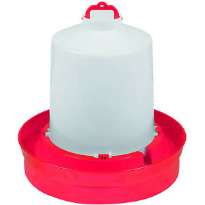 Little Giant DBW2 Deep Base Poultry Waterer for Chickens & Birds, Red, 2 Gallon