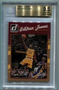 LeBron James 2016-17 Donruss #15 Base vs Kobe Bryant SP BGS 9.5 GEM Cavaliers C