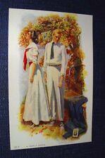 A COSTLY ERROR ROMANTIC BASEBALL Postcard ARTIST SIGNED DEWEY