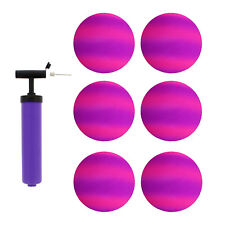 """Get Out!™ 8.5"""" Inch Purple & Pink Playground Ball Four Square Balls 6pk & Pump"""