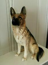 "Superb Royal Doulton Porcelain 14"" German Shepherd Seated Dog Figurine #57788"