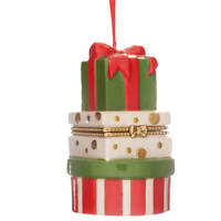 Stacked Presents Trinket Box– Surprise Ornament Box fill to gift money, jewelry,