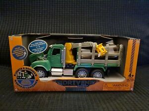 DRIVEN by Battat WH1013Z Toy Truck Crane Arm and Logs Sound and Light - for Kids
