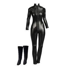 1/6 Fille Jumpsuit Zipper High Heel Shoes pour 12 '' Hot Catwoman Action