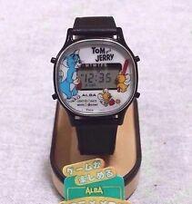 SEIKO ALBA Retro Watch Anime Melody Game Tom & Jerry Made Japan w/Box Mega Rare