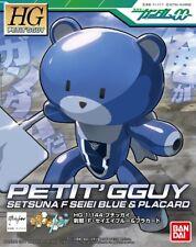 Gundam HG Petit'Gguy Petitgguy 00 Setsuna F Seiei Blue & Placard HGPG Model Kit