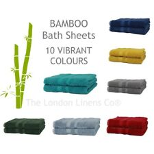 2 Piece BAMBOO Bath Sheets 140 x 75cm LUXURY Natural 60% Bamboo 40% Cotton Towel