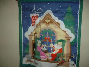 Vintage Avon Cloth Christmas Countdown Calender wall hanging!!!