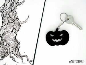 Key chain - Halloween Pumpkin Silhouette