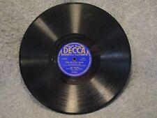 """78 RPM 10"""" Record The Jesters The Hut-Sut Song & Round Her Neck Decca 3778"""