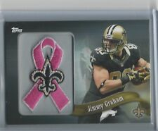 2013 Topps NFL Patch PINK Ribbon Jimmy Graham Excellent Condition # PR-JG