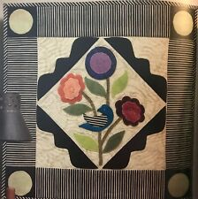 "Flower Song Wall Hanging Wool/Cotton Penny Rug Kit 19 1/2"" x 19 1/2"""