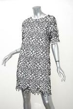 ESSENTIEL ANTWERP Womens White+Black Floral Lace Shift Dress 38/6 S NEW NWT
