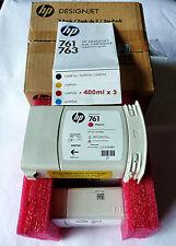 HP 761 CM993A x 3 PACK - 3 x 400 ml MULTIPACK - use by date 09-2015 GENUINE