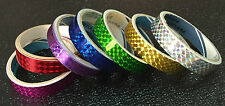 """7 Prism 18mm TAPE Reflective Safety Sticky Fishing Lure Hula Hoop 3/4 Inch 0.75"""""""