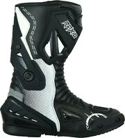 RAXID Motorbike Motorcycle Genuine Leather Mens Short Racing Sports Shoes Boots Black UK6//US7//EU40