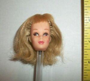 VINTAGE Barbie 1960S FRANCIE DOLL HEAD ONLY FOR OOAK REROOT OR REPAIR #FR10 TLC