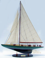 "24"" Shamrock Green & Black Sailing Boat Model"