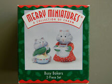 Hallmark Merry Miniatures - Busy Bakers- 2 piece set - 1996