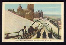 Toboggan Slide Chateau Frontenac et Glissoire Quebec Vintage Unused Postcard